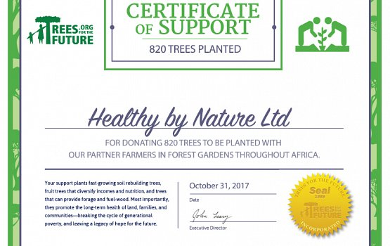 820 Trees Planted