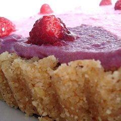 Raspberry Coconut Flan